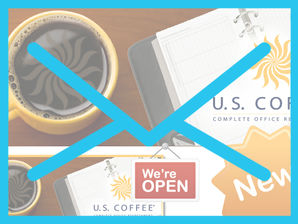US Coffee New Website Announcement Email