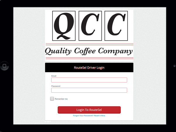Quality Coffee Company RouteSel
